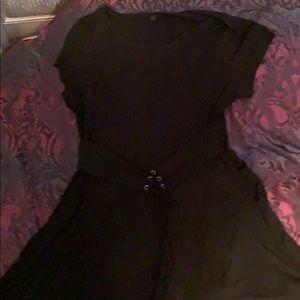 Torrid black corset tie dress